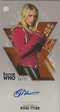 Doctor Who 10th Adventures Bronze 08/25 Authentic Autograph Rose Tyler
