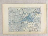 1881 Antique Military Map of Biesbosch The Netherlands Dort Dordrecht 19th C
