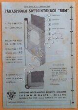 Materiali edili - pubblicità - Listino prezzi Cosimo Gigante - Milano - 1948