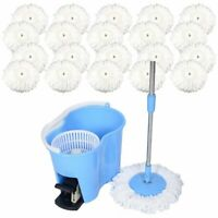 Microfiber Spin Mop Easy Floor Mop with Bucket & 20 Mop Heads 360 Rotating Head