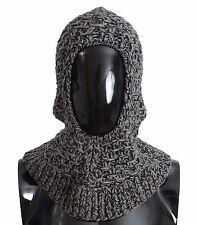 NWT $500 DOLCE & GABBANA Gray Wool Cashmere Crochet Hood Scarf Hat One Size