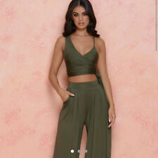 Oh Polly Khaki Green Co-ord Jersey Material