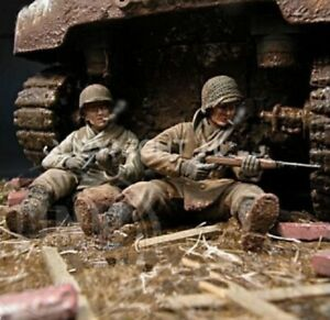 1/35 Resin Figure Model Kit US Army Normandy WWII Unpainted Unassambled
