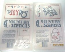 COUNTRY STENCILS..HOLIDAY STENCILS...LOT OF2