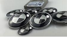 7pcs set 82+74mm,4x68mm,45mm For Bmw Carbon Fiber Emblems Badge Decal Logo