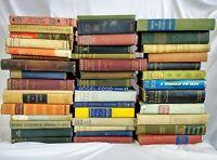 Lot of 10 Random Antique Hardcover Books Decorative Rare Vintage