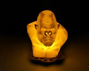King Kong Bust - 3D Printed Accent Lamp