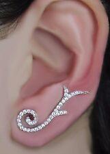 925 Sterling Silver Ear Cuff, Earrings, Earcuffs, Silver Ear Sweep, Ear Crawler