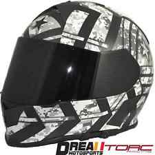 TORC T14 FORCE MATTE FLAT BLACK ARMY MILITARY FULL FACE MOTORCYCLE HELMET DOT