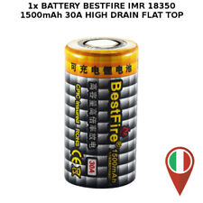 1x BESTFIRE IMR 18350 FLAT TOP 1500mAh 3.7v 30A HIGH DRAIN BATTERY LI-ION VAPE