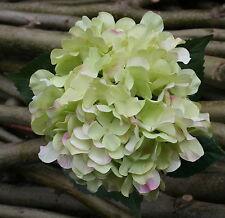 creme-grüne Hortensie 67cm blassrosa Spitzen Stil versiegelt tolle Kunstblume