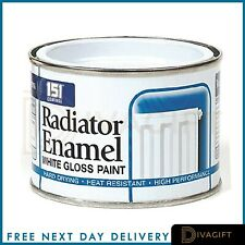 RADIATOR WHITE ENAMEL GLOSS PAINT -180ml Radiator pipes, tough long lasting