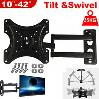Swivel& Tilt TV Wall Bracket Mount Full Motion for LCD Plasma Television 10-42""