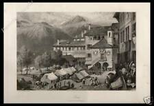 ORTA SAN GIULIO NOVARA PIEMONTE STAMPA ORIGINALE 1876