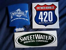 Sweet Water Brewing Co.-2 stickers+beer koozie 420 extra pale ale~