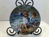 """""""Patience"""" by Sandra Kuck, Hearts and Flowers Plate Collection, RECO 1991 w/COA"""