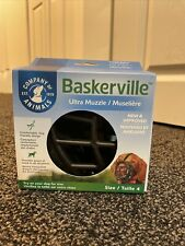Baskerville Ultra Muzzle for Dogs, Size 4 - Black