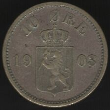 More details for 1903 norway silver 10 ore coin   european coins   pennies2pounds
