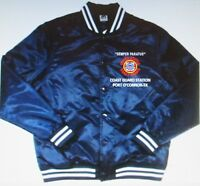 COAST GUARD STATION* PORT O'CONNOR-TX *EMBROIDERED 1-SIDED SATIN JACKET