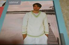Idena Knitting Pattern 6109 Bamboo Man's Sweater 42-50