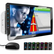 Autoradio mit Navigation 10,1 Zoll Full HD Touchscreen DVD CD SD Bluetooth USB