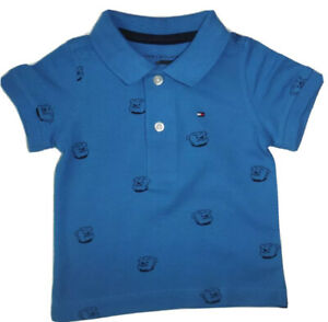 TOMMY HILFIGER BABY BOY  POLO SHIRT  BLUE  SIZE 3-6 MONTHS