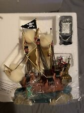Disney Peter Pan Captain Hook Pirate Ship with Smee, Croc Electric Light Up