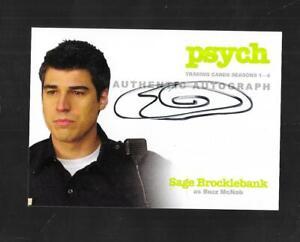 Psych Seasons 1-4 2013 autograph card A6 Sage Brocklebank - Buzz McNab