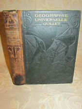 Antique Book Of Geographie Universelle Quillet Illustree - 1923
