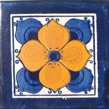#C010) Mexican Tile sample Ceramic Handmade 4x4 inch, GET MANY AS YOU NEED !!