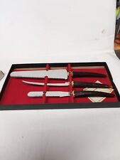 Vintage hostess kitchen 3 piece knife set mint condition never used.