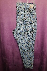 NEW♈Woman's Printed High rise fitted Jegging's by Terra & Sky size 2X~aqua/mint