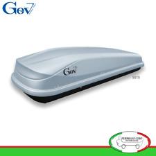 Gev 9019 - BOX BAULE UNIVERSALE PORTABAGAGLI TETTO AUTO EASY 430 LT LITRI GRIGIO