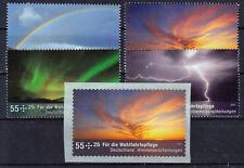 Bund 2707/10, 2717 ** Wofa 2009 Himmelserscheinungen mit SK Marke