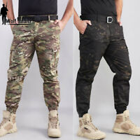 Mens Military Tactical Cargo Pants Army Casual Ankle Combat Trousers Camouflage