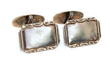 Vtg 1951 SWEDEN Modernist K&E Carlson Sterling Silver Gold Gilt ORNATE Cufflinks