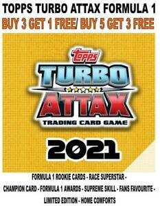 TOPPS TURBO ATTAX F1 FORMULA 1 2021 - LIMITED EDITIONS/ FOIL CARDS #141-#254