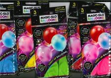 Light Up Ballons Magic Glow in the Dark Décoration DEL 3 Anniversaire Enfants Fête!!!