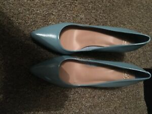 M&S COLLECTION BLUE COURT SHOES SIZE 9 BRAND NEW