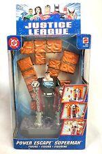 Mattel 2003 DC Justice League Power Escape Superman Clark Kent Figurine Sealed