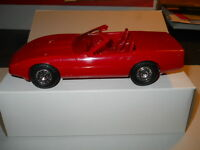 1987 CHEVROLET CORVETTE RED CONVERTIBLE DEALERSHIP PROMO CAR IN ORIGINAL BOX
