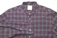 Billy Reid Mens Button Down Shirt Size Large Standard Cut Made in Italy Cotton