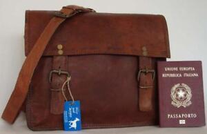 """Handmade Goat Leather 11"""" Satchel Shoulder iPad Bag SS/R Billy Goat Designs"""