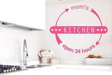 Mums Kitchen Open 24 Hours Vinilo Pegatinas De Pared Adhesivo Decoración