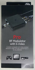 GE Pro RF Modulator S-Video or Composite to Coaxial Coax TV #38806 Game/DVD