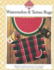Scatter Rugs WATERMELON and TARTAN Crochet Single Pattern Vanna White