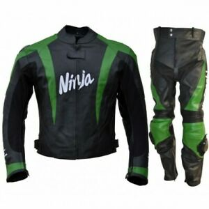 New classic Leather Motorbike 2 Piece Cowhide Leather Motorcycle racing suit