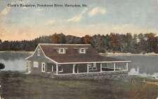Hampden Maine Penobscot River Clarks Bungalow Antique Postcard K24419