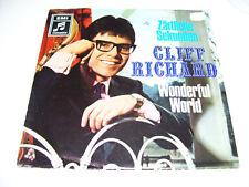 """Cliff Richard - Zartliche Sekunden / Wonderful world 7"""" 45 RPM VINYL GERMANY"""