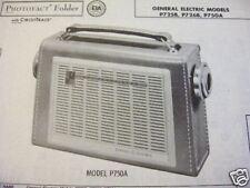 GENERAL ELECTRIC P725B,P726B TRANSISTOR RADIO PHOTOFACT